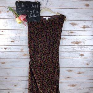 Diane Von Furstenberg velvet ruched maxi dress